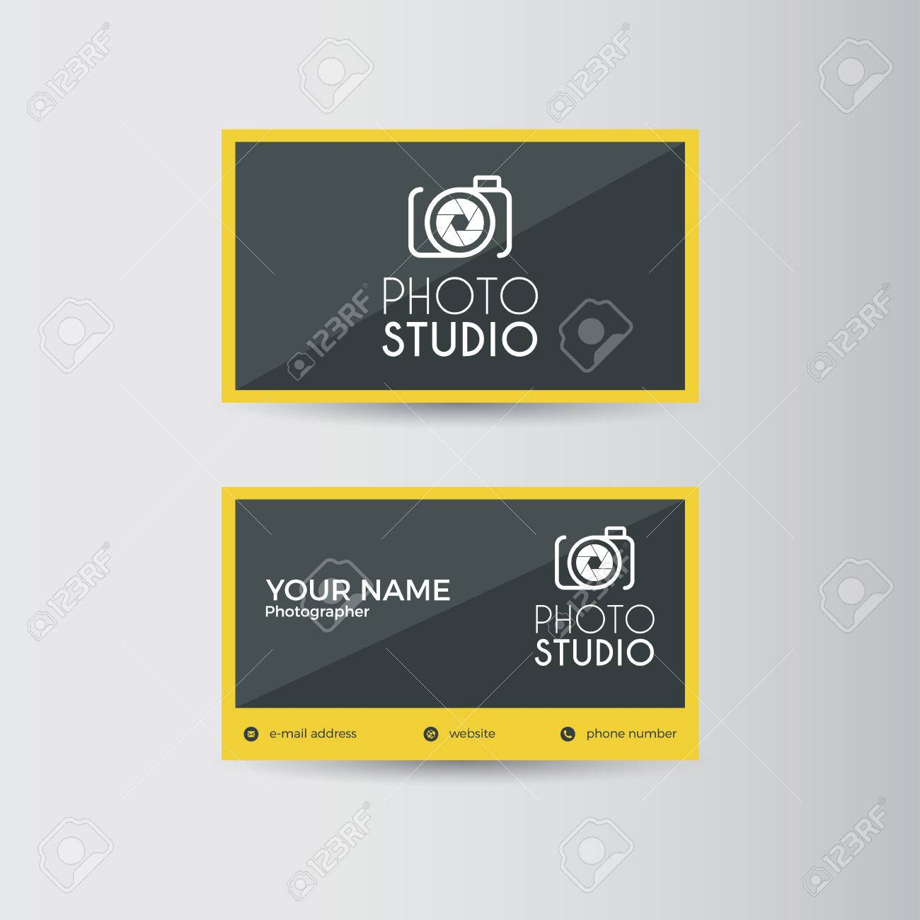 Simple template for photography business card royalty free cliparts simple template for photography business card stock vector 72911064 reheart Gallery