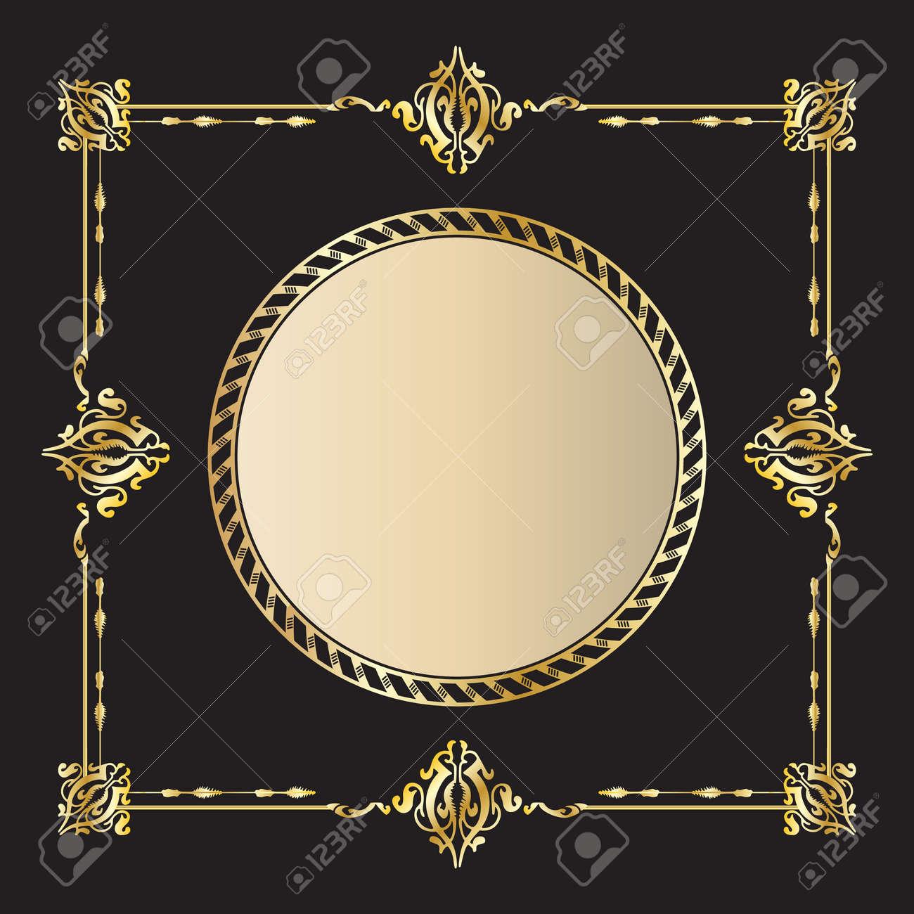 Gold Vintage Frame Stock Vector