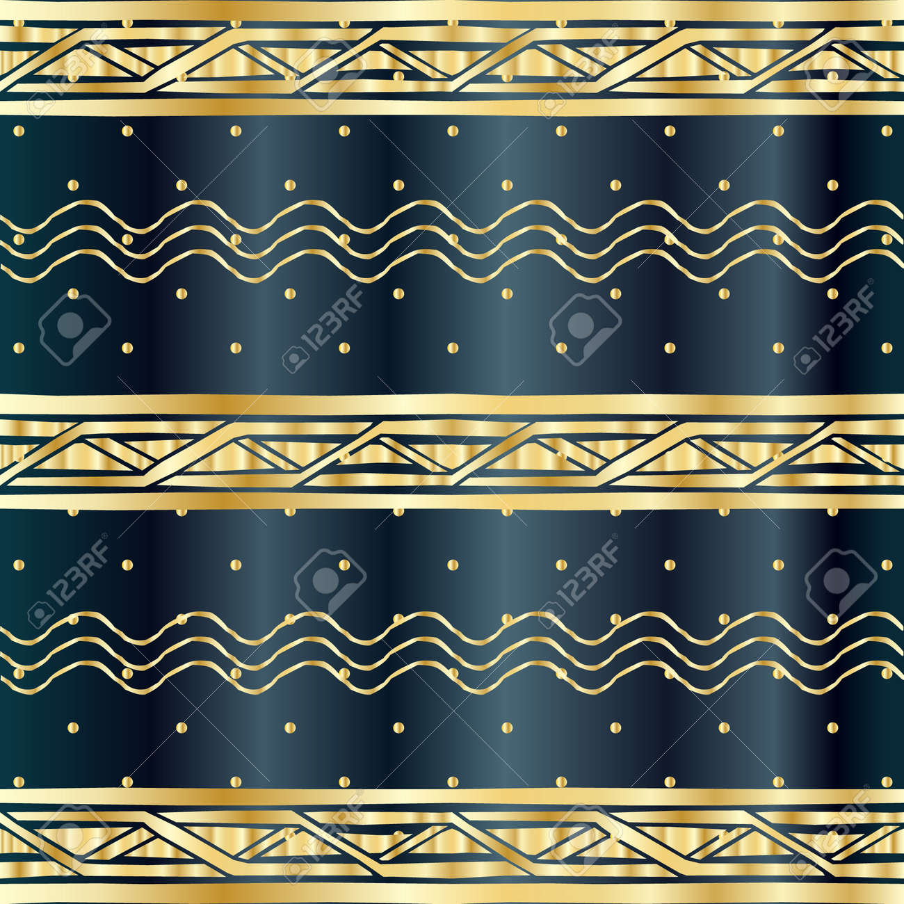 Indian Sari Borders Detailed And Easily Editable Pattern Gold Ethnic Ornamental