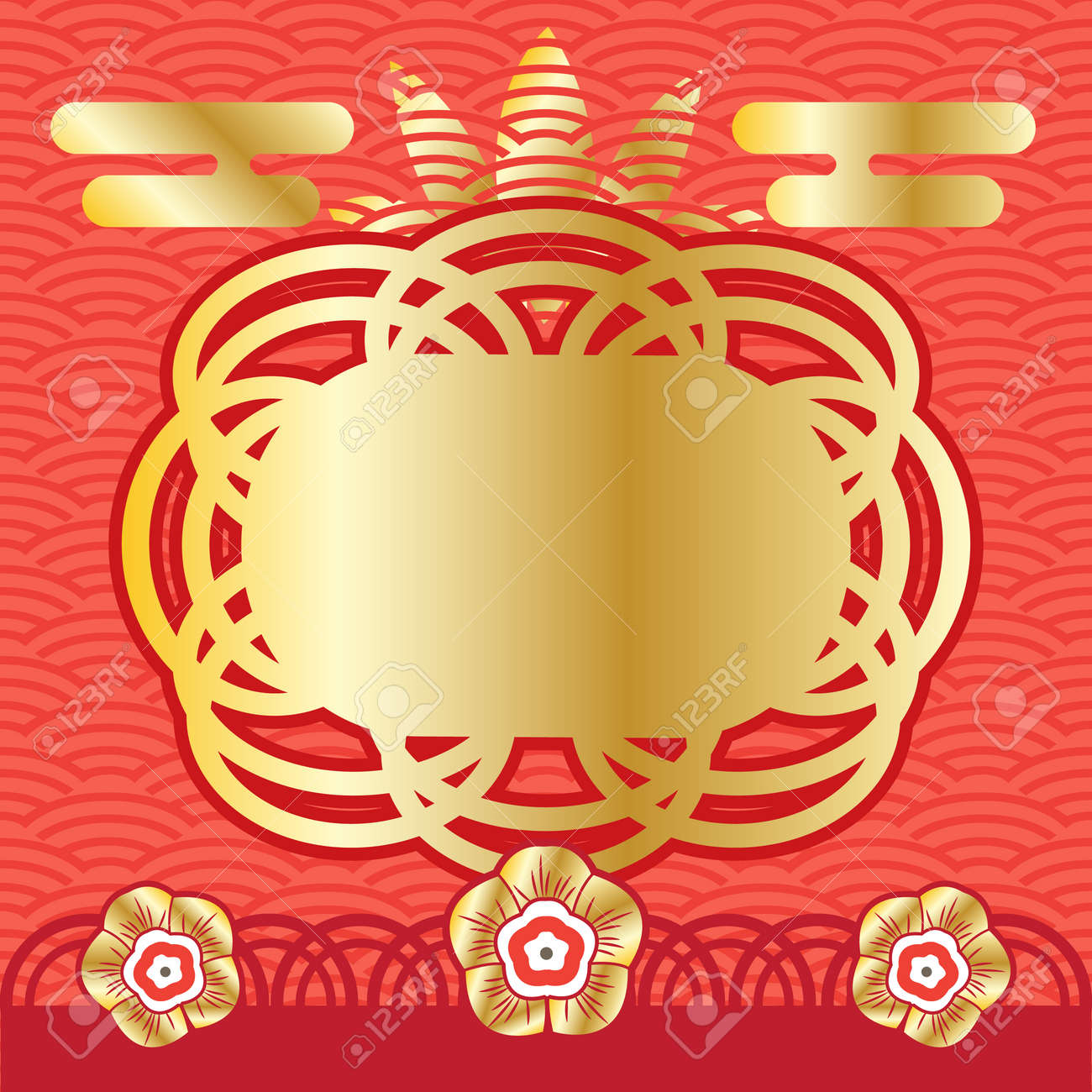 Vector Chinese New Year Greeting Card Decorative Background