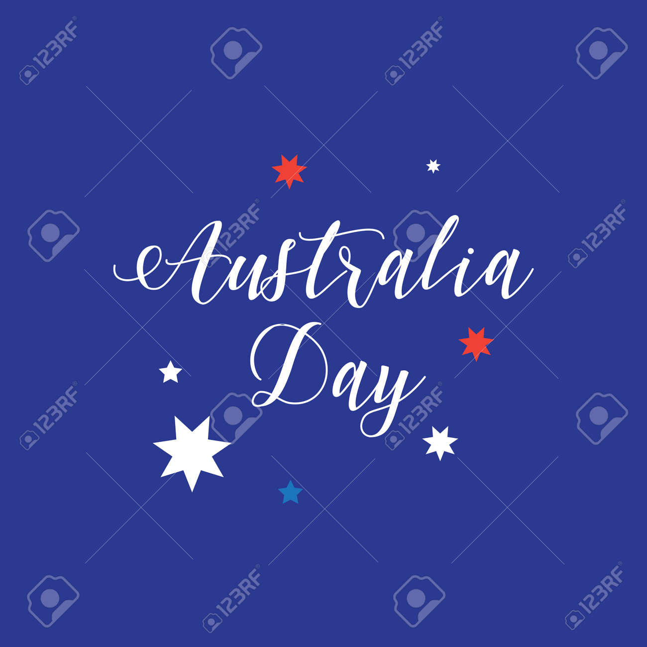 Australia day 26 january lettering poster with calligraphy on australia day 26 january lettering poster with calligraphy on australian flag color background heart m4hsunfo