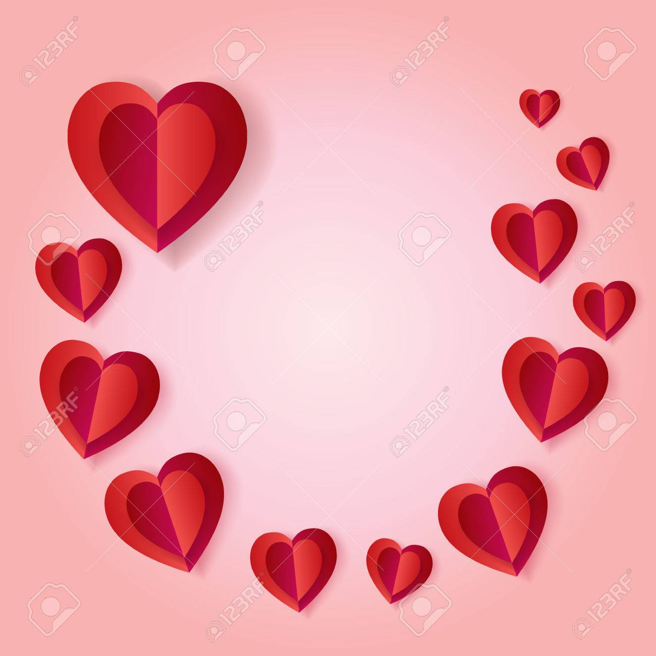 Happy valentines day or wedding day greeting card vector template happy valentines day or wedding day greeting card vector template romantic poster with hearts m4hsunfo
