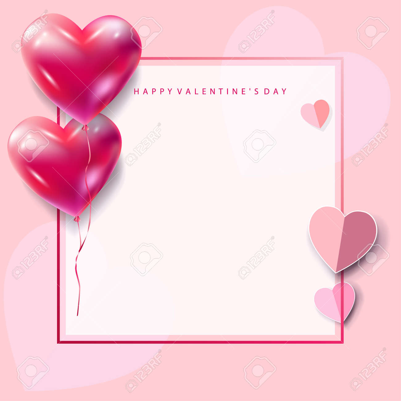 Romance frame heart shape balloons poster vector decoration romance frame heart shape balloons poster vector decoration red heart balloons isolated on abstract futuristic biocorpaavc