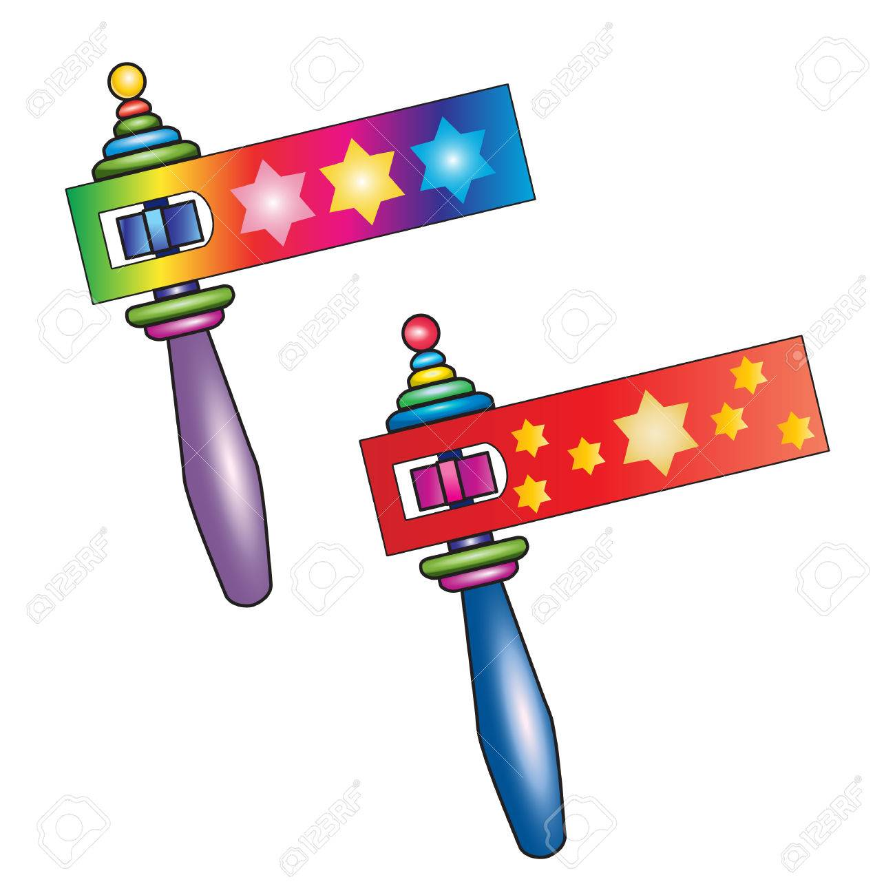 purim traditional toy grogger noisemaker isolated on white rh 123rf com purim clipart free