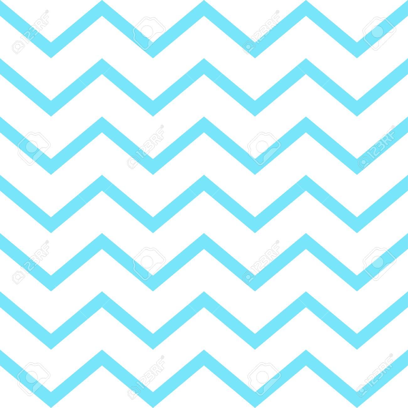 Vector De Patrones Sin Fisuras Zigzag Azul. Fondo De Líneas ...