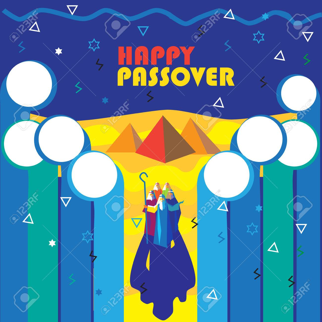 Happy Passover Wallpaper Spring Festival Abstract Modern Art Painting Jewish Holiday Poster With