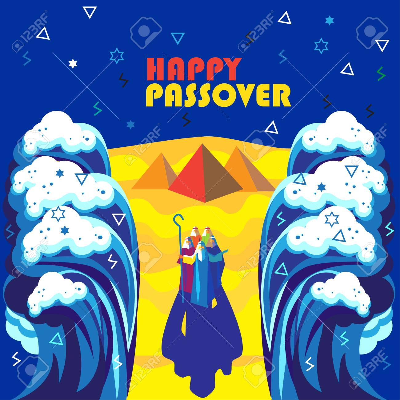 Happy passover abstract greeting card futuristic style passover happy passover abstract greeting card futuristic style passover jewish holiday decorative poster with moses m4hsunfo