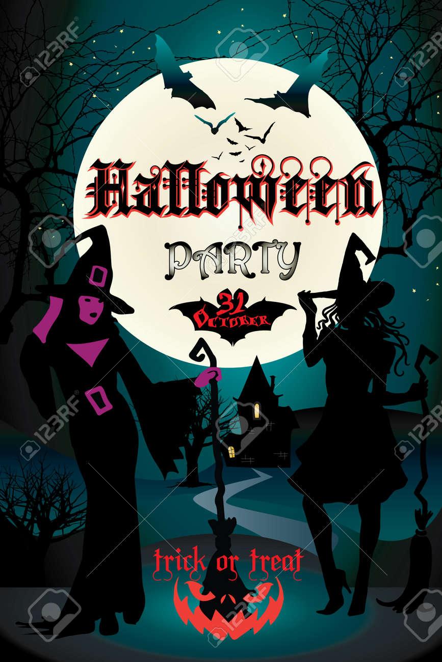 Halloween abstract halloween party poster halloween futuristic halloween abstract halloween party poster halloween futuristic illustration with halloween pumpkin bat stopboris Image collections