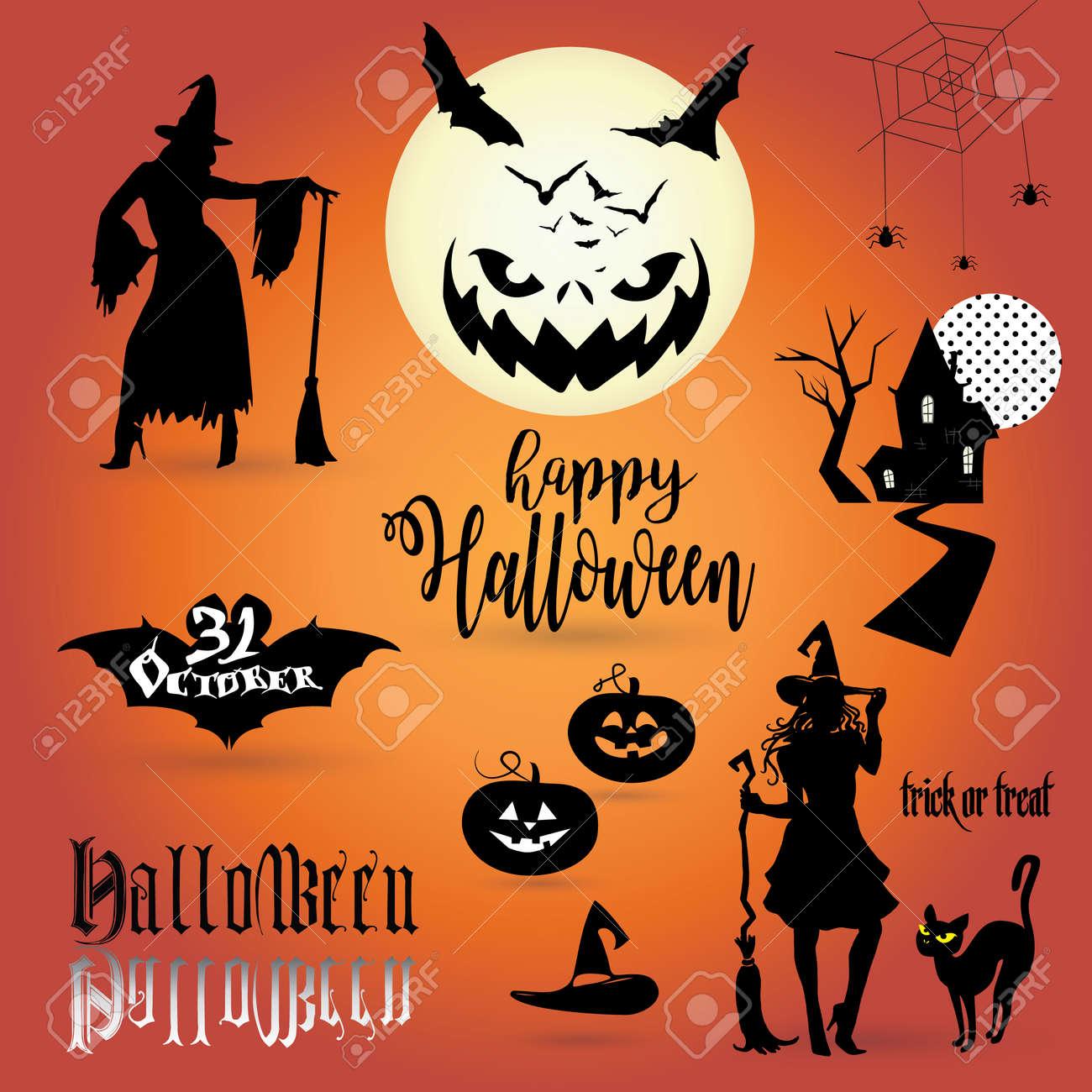 Happy Halloween Halloween Greeting Card Background Halloween
