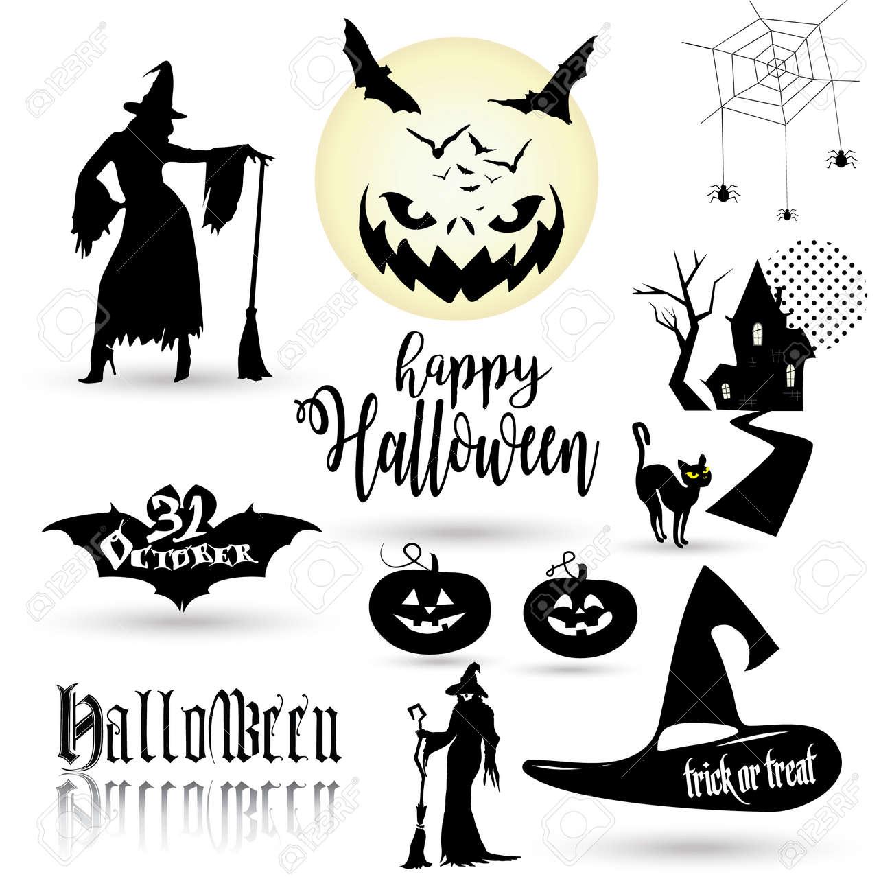 Halloween Wallpaper With Halloween Symbols Halloween Pumpkin