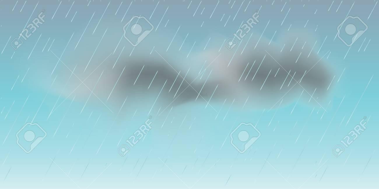 梅雨空と雲 雨の日のベクトル図です 雨は 壁紙を削除します 秋の雨