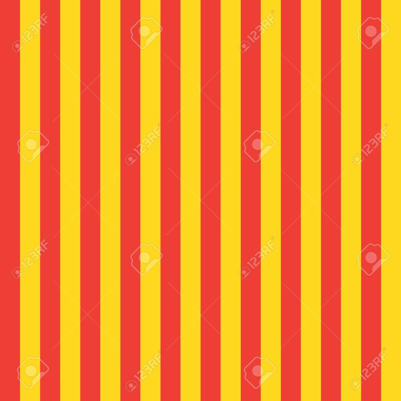catalonia red and yellow color flag stripes seamless pattern