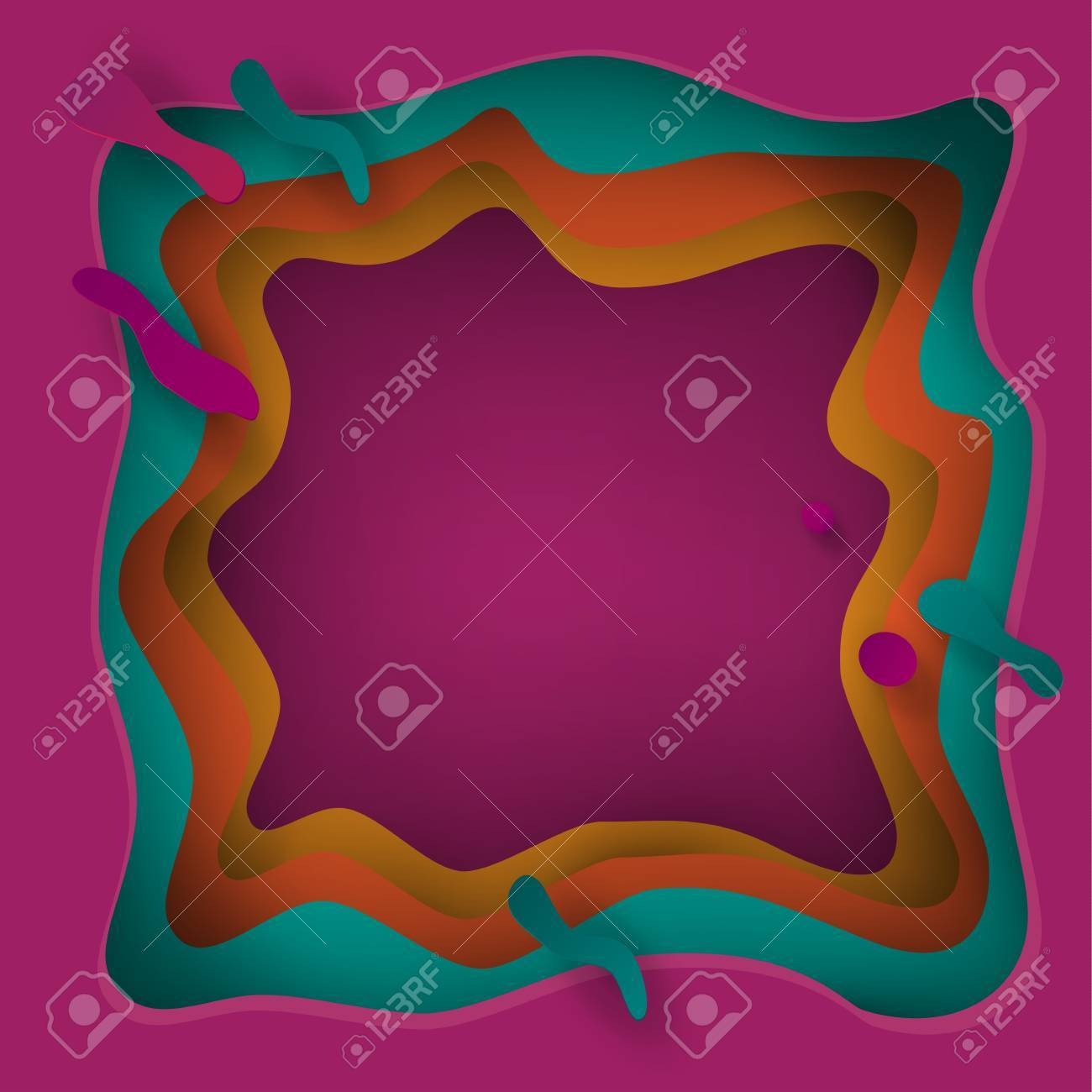 cut paper artistic abstract background, modern wallpaper, greeting