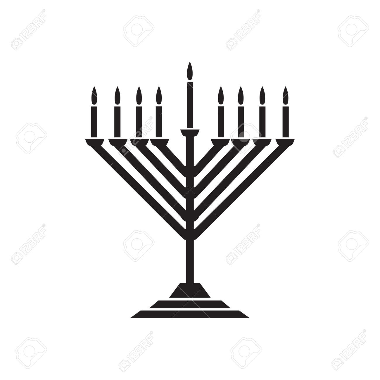Menorah Hanukkah Icon Jewish Holiday Symbol Menorah Light