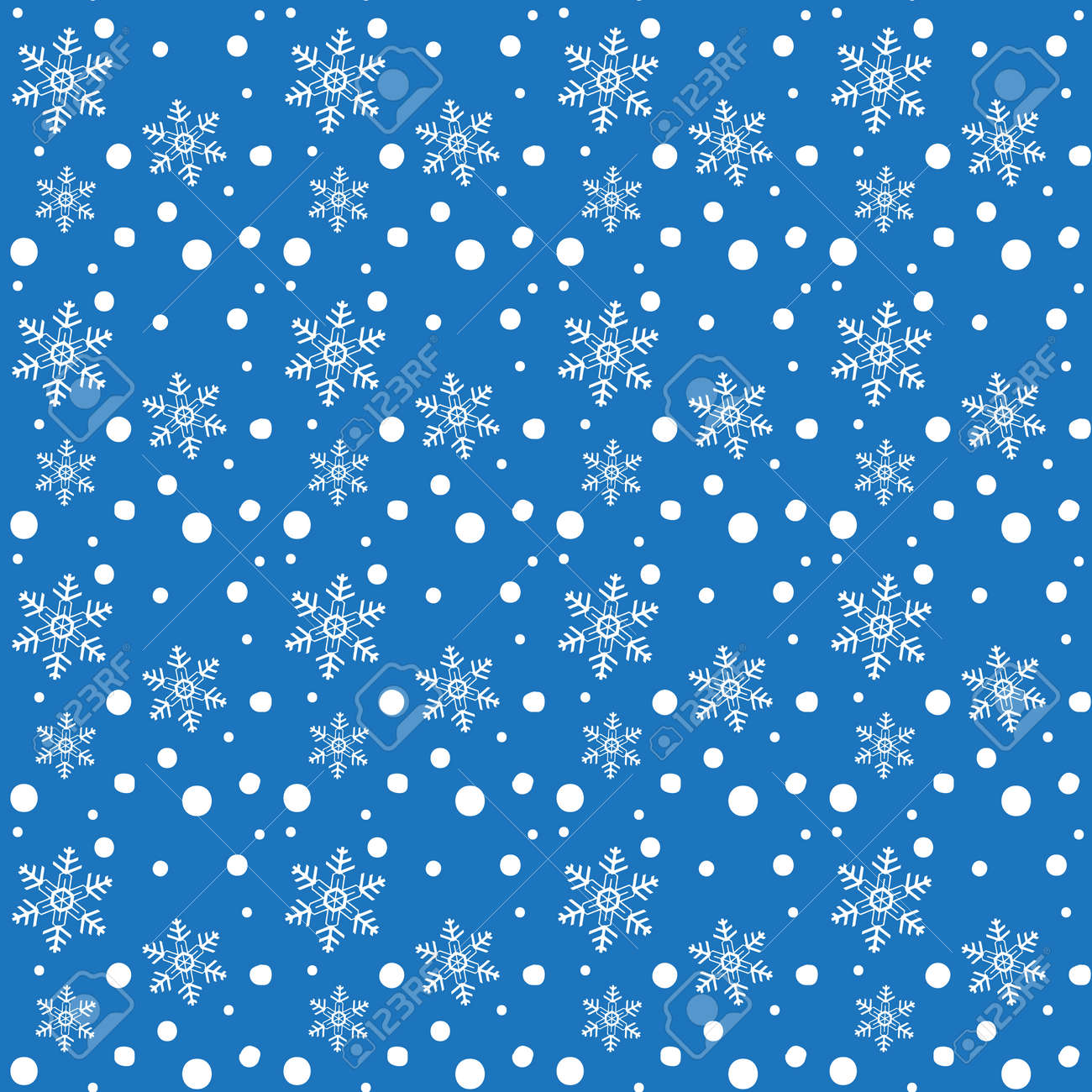 Christmas White Snowflakes Falling Seamless Blue Background Cartoon Royalty Free Cliparts Vectors And Stock Illustration Image 89492173