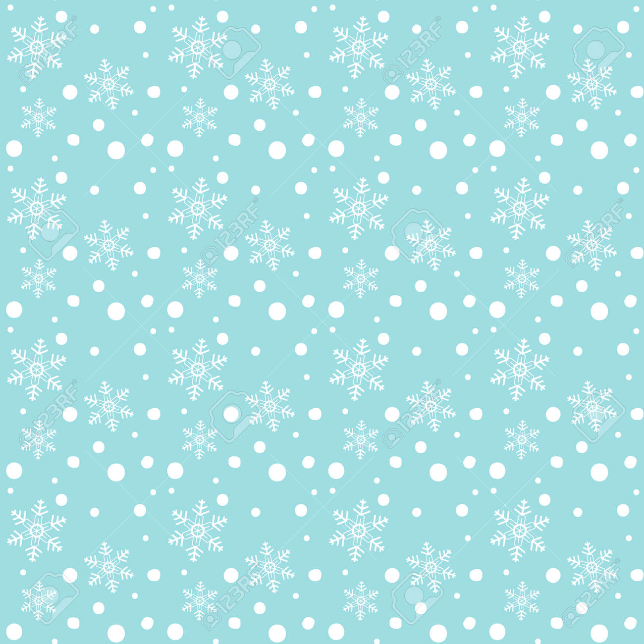 Cartoon Snowflakes Falling Seamless Pattern White Snowfall On Royalty Free Cliparts Vectors And Stock Illustration Image 90043722