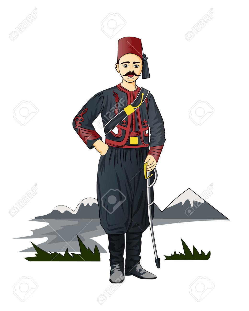 Turkish sailor army uniform. - 161244221