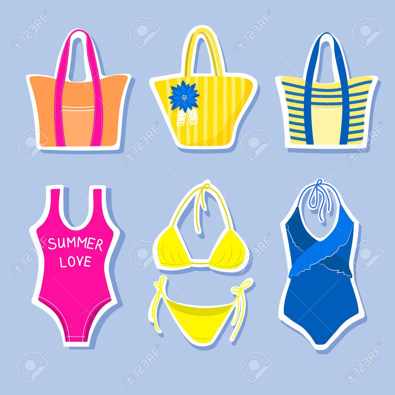 Set of beach stickers - 162665365