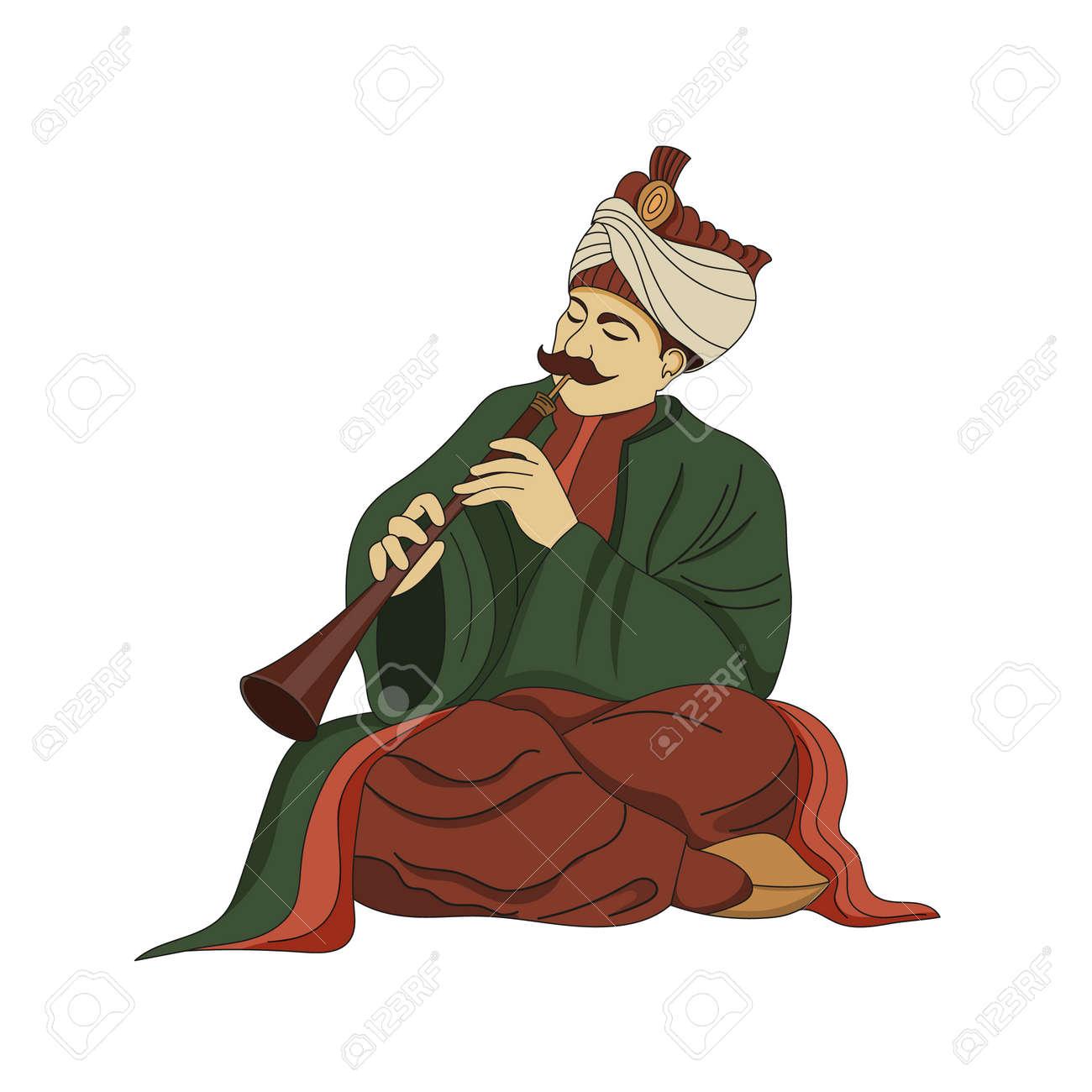 Traditional musician turkish man playing the zurna - 164037472