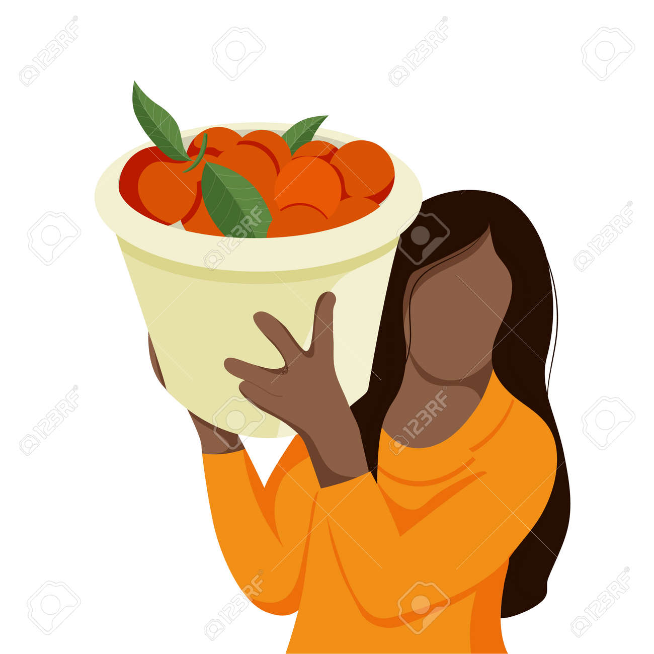 Workers Pick Orange In Plantation - 169605812