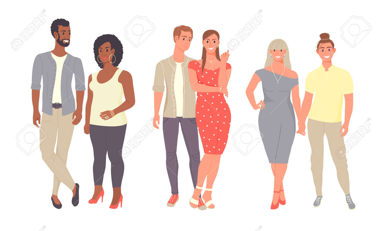 Diverse people group standing together on isolated white background. - 169605815
