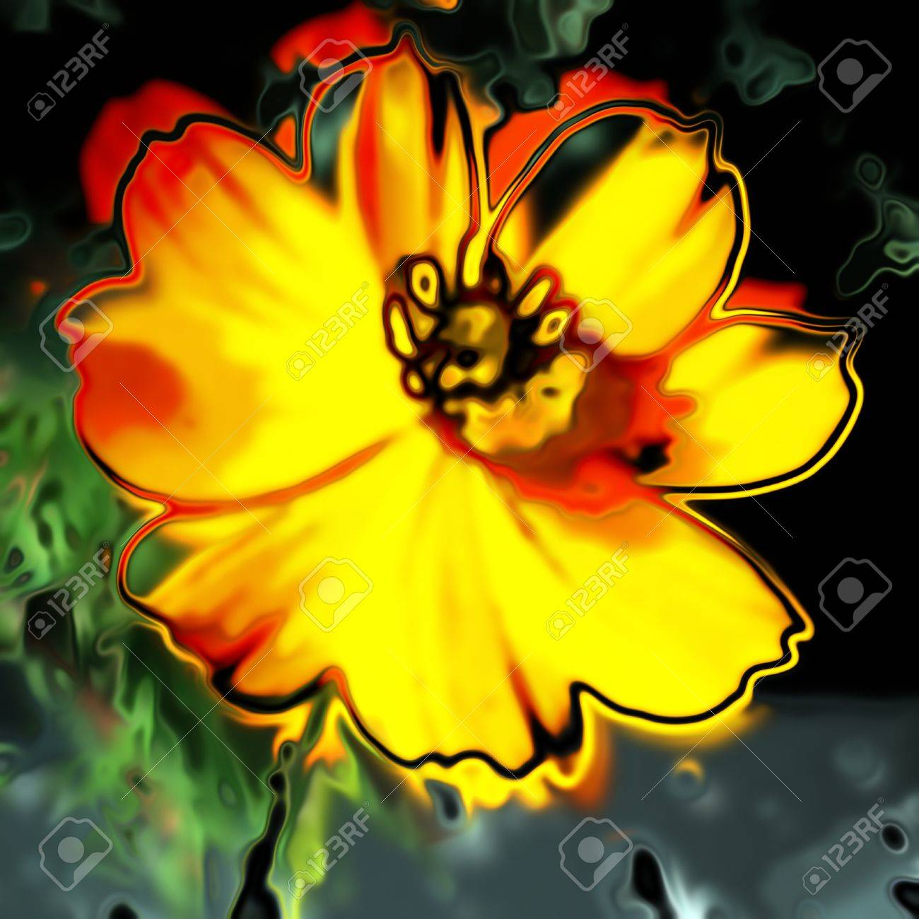 art glass floral colorful background Stock Photo - 15052945
