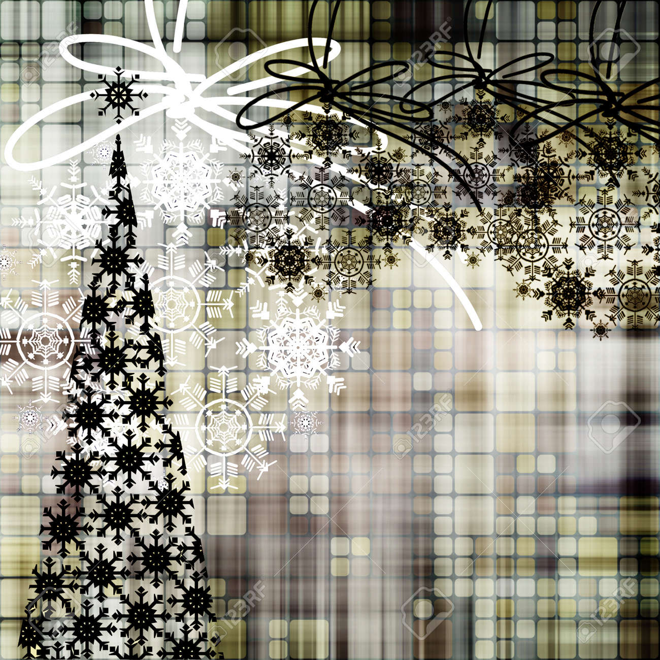 art christmas background with tree Stock Photo - 17387347