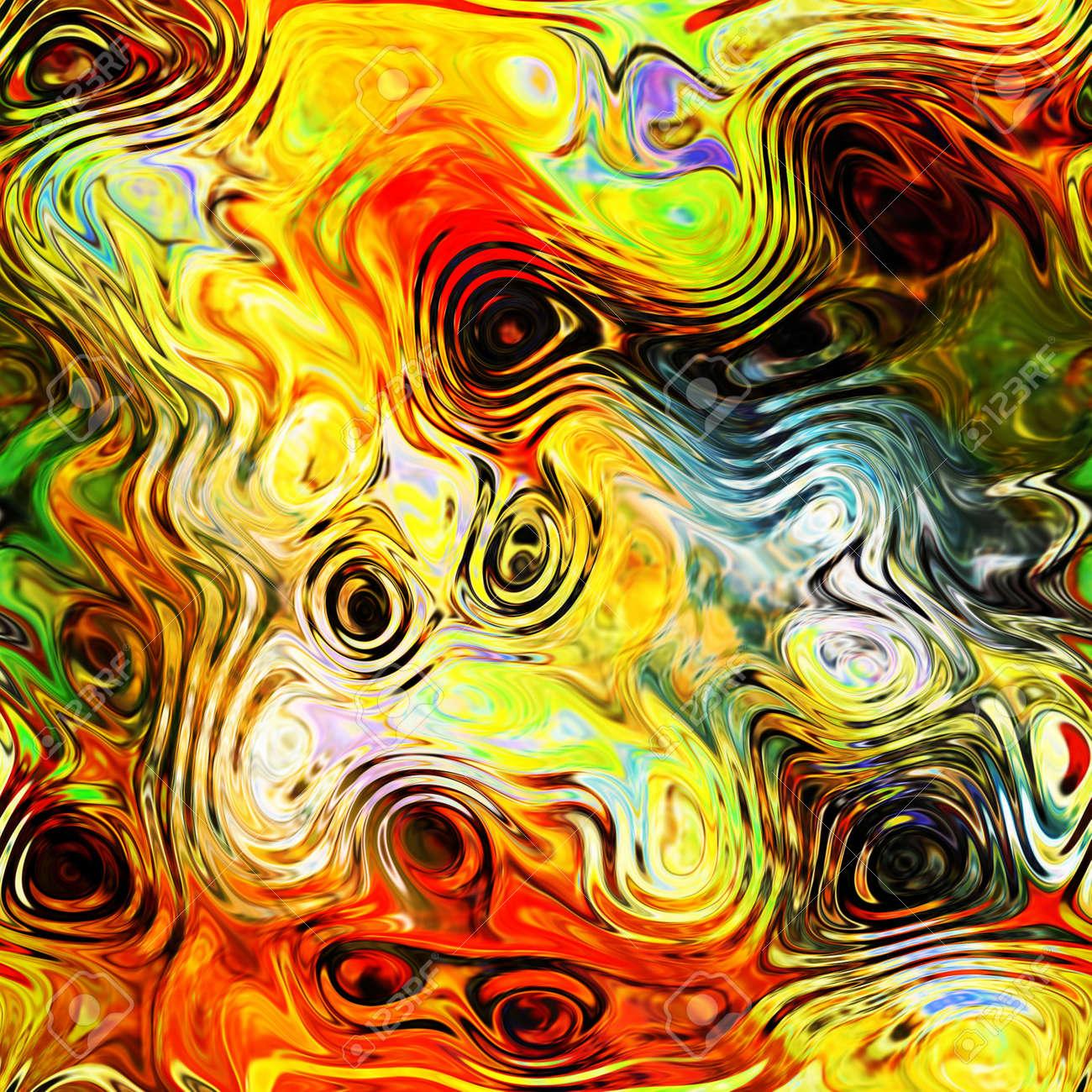 art abstract rainbow fractal pattern background Stock Photo - 17395370
