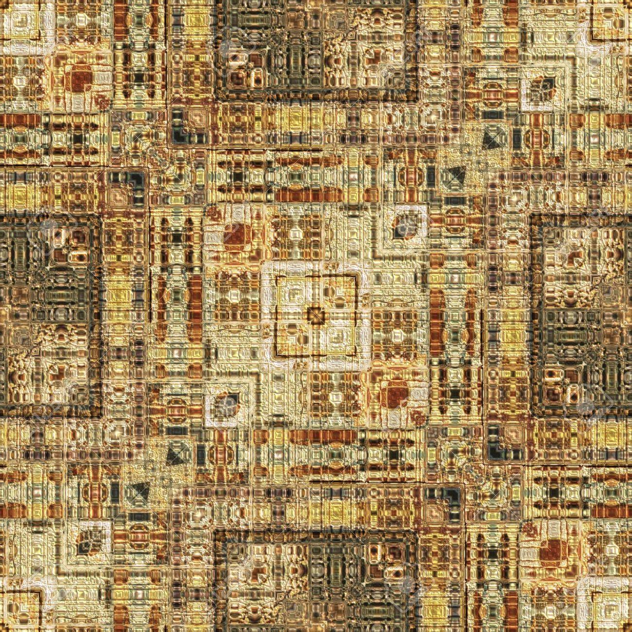 art vintage geometric ornamental pattern in light brown color Stock Photo - 21142319