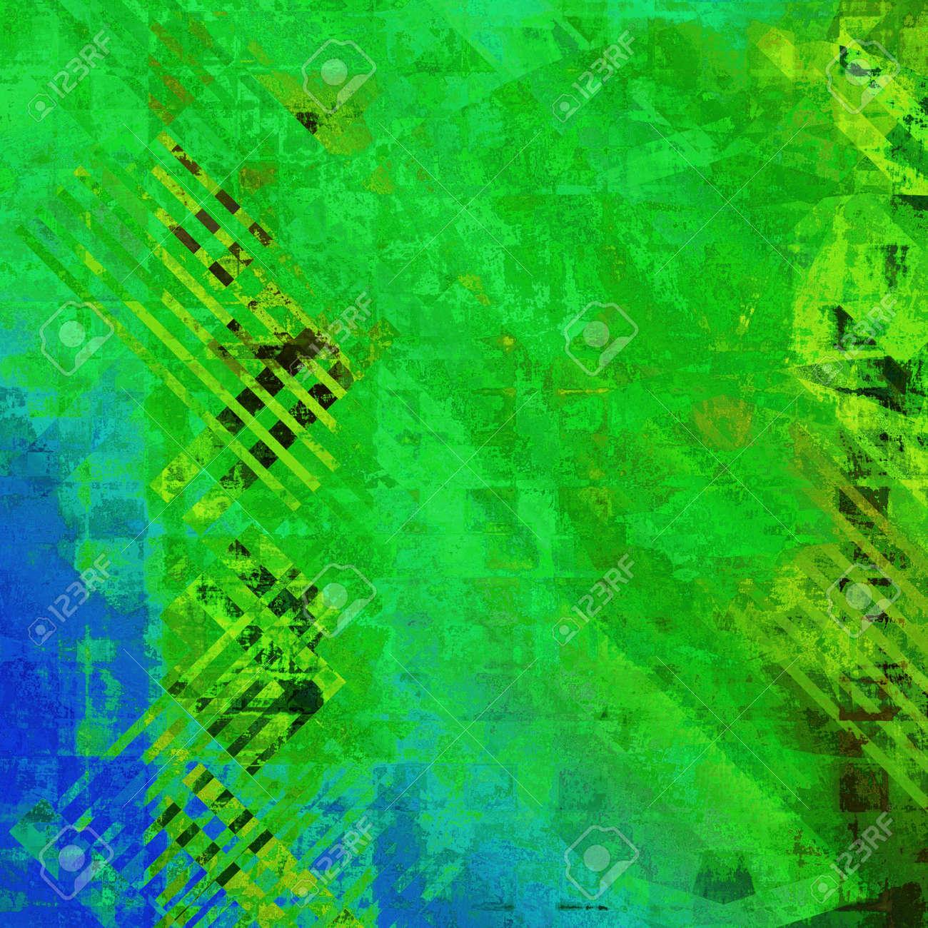 El Arte Abstracto De Colores De Fondo De Acrílico En Color Verde ...