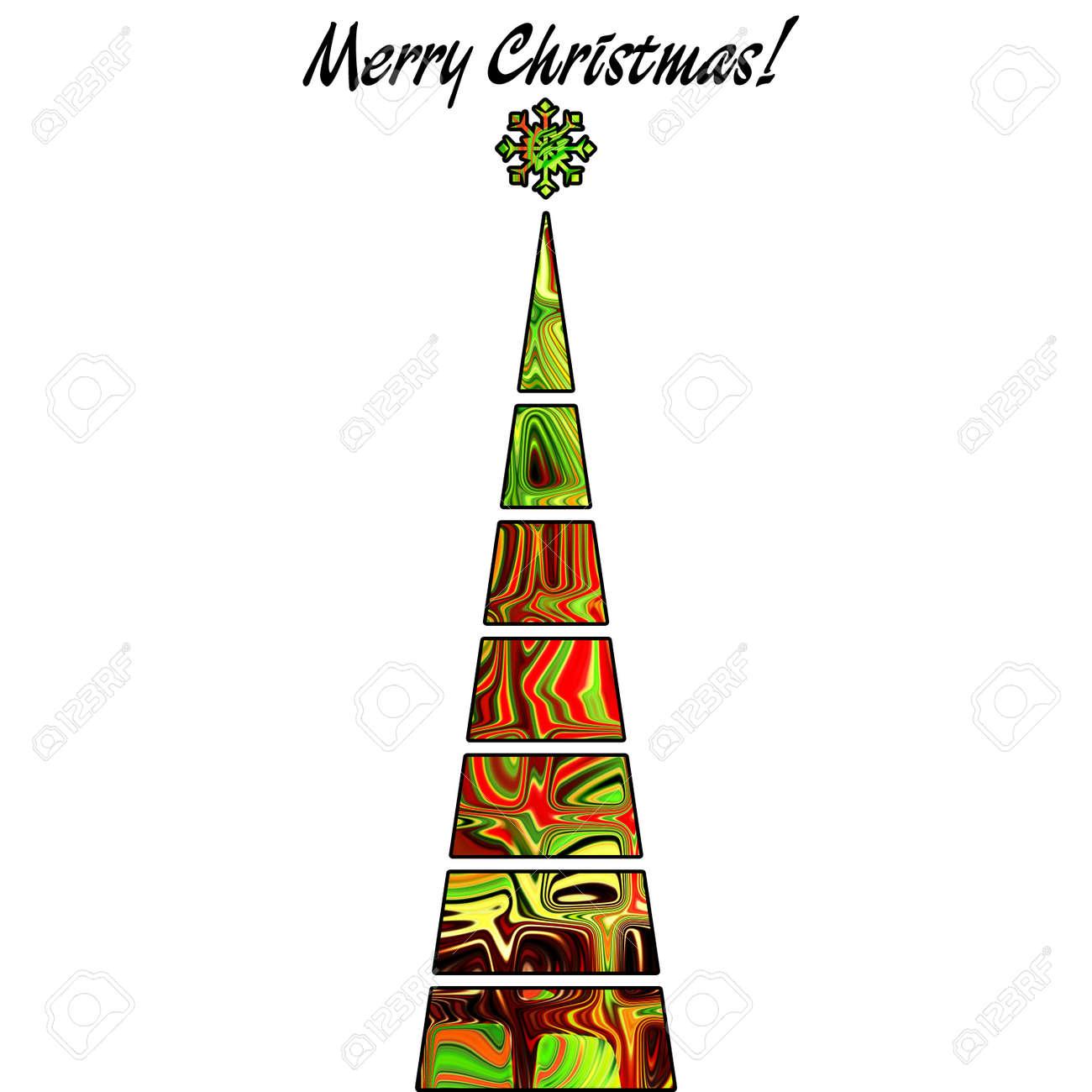Abstract Art Christmas Tree