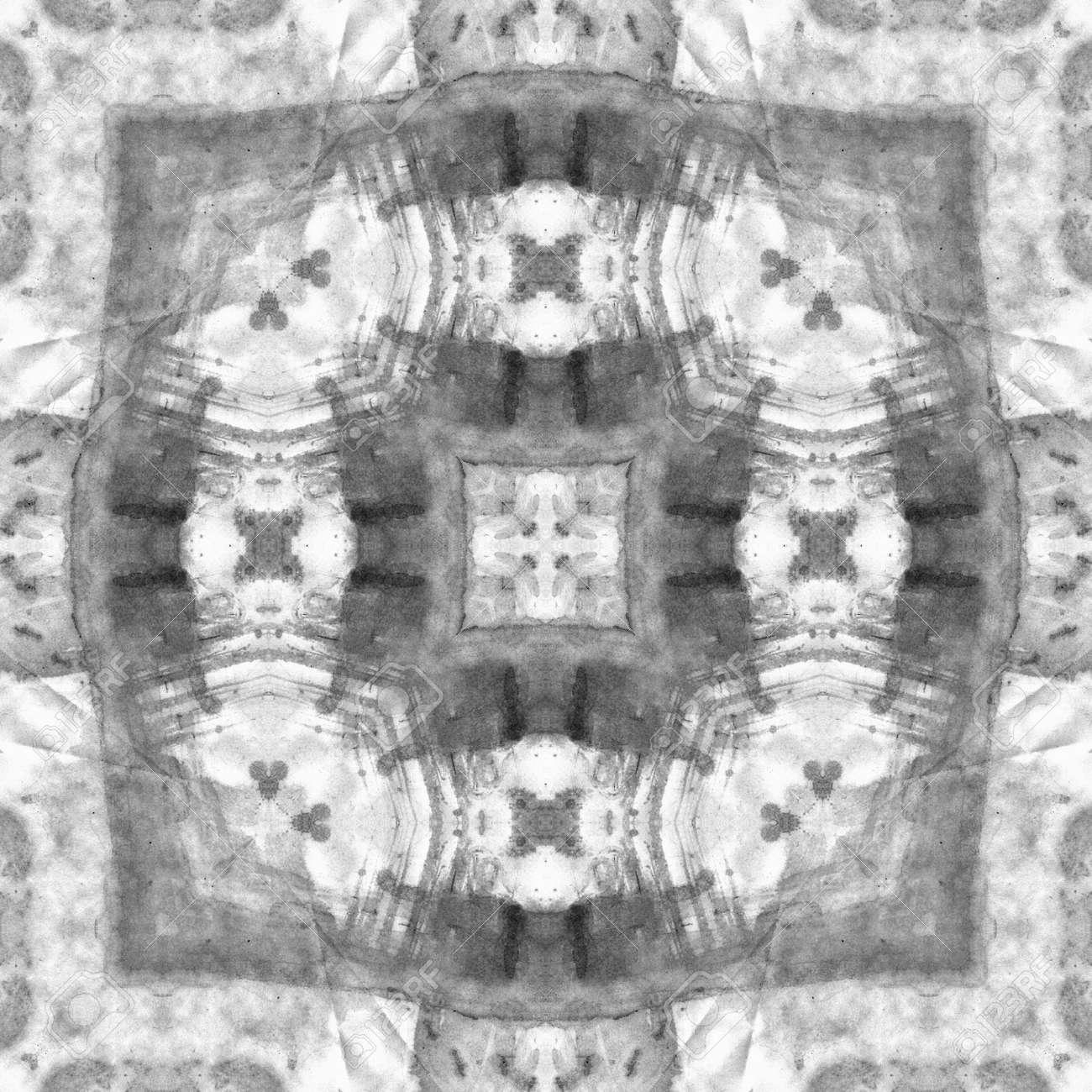 Art nouveau ornamental vintage pattern s 11 monochrome watercolor background in white