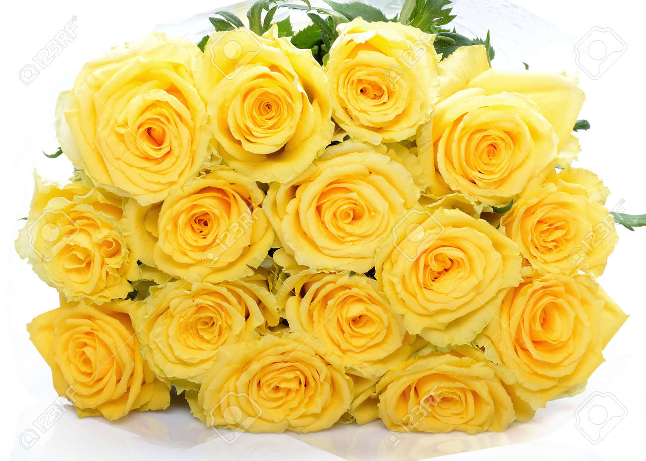 Beautiful Bouquet Of Yellow Rose Flowers Stock Photo Picture And