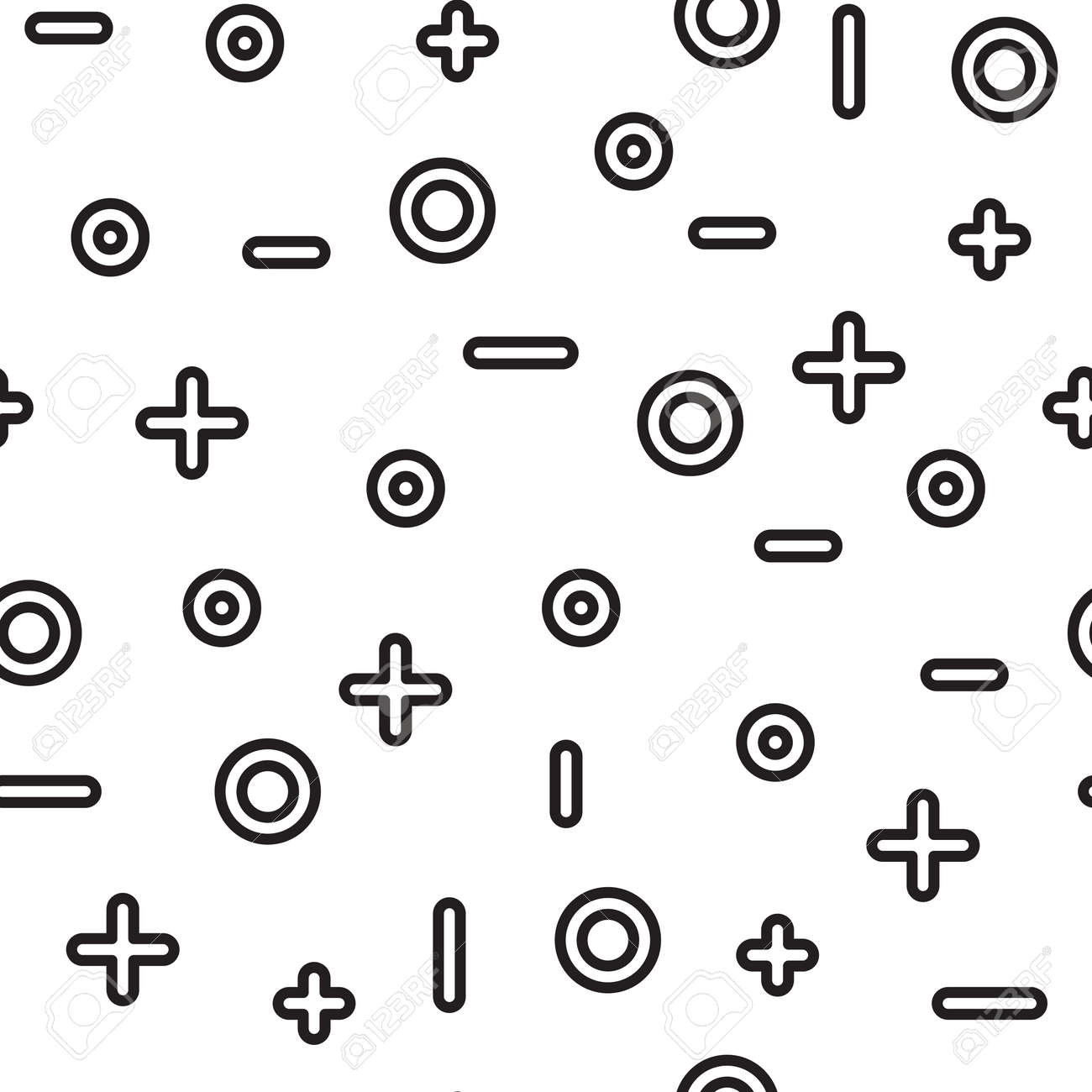 Universal vector fashion geometric seamless pattern flat repeated universal vector fashion geometric seamless pattern flat repeated trendy math design elements in black biocorpaavc Image collections