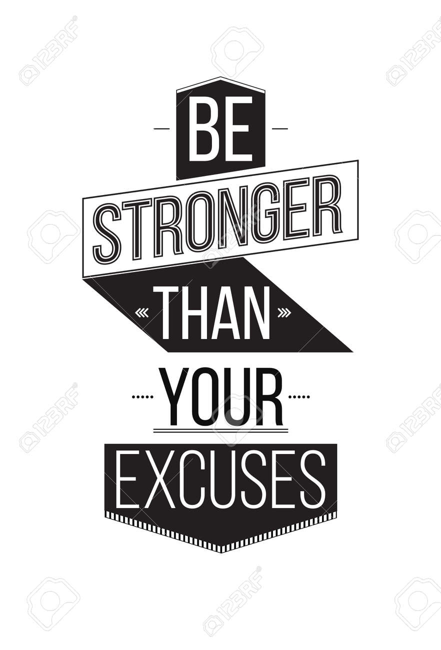 inspirational artwork for office. Be Stronger Than Your Excuses. Inspirational Quote Poster. The Prefect  Artwork For Your Home Inspirational Office