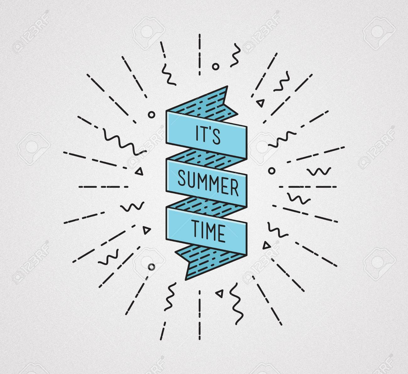 It Is Summer Time. Inspirational Illustration, Motivational Quote ...