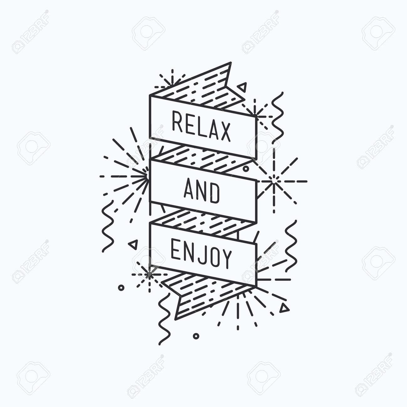 Relax And Enjoy Summer Inspirational Vector Illustration