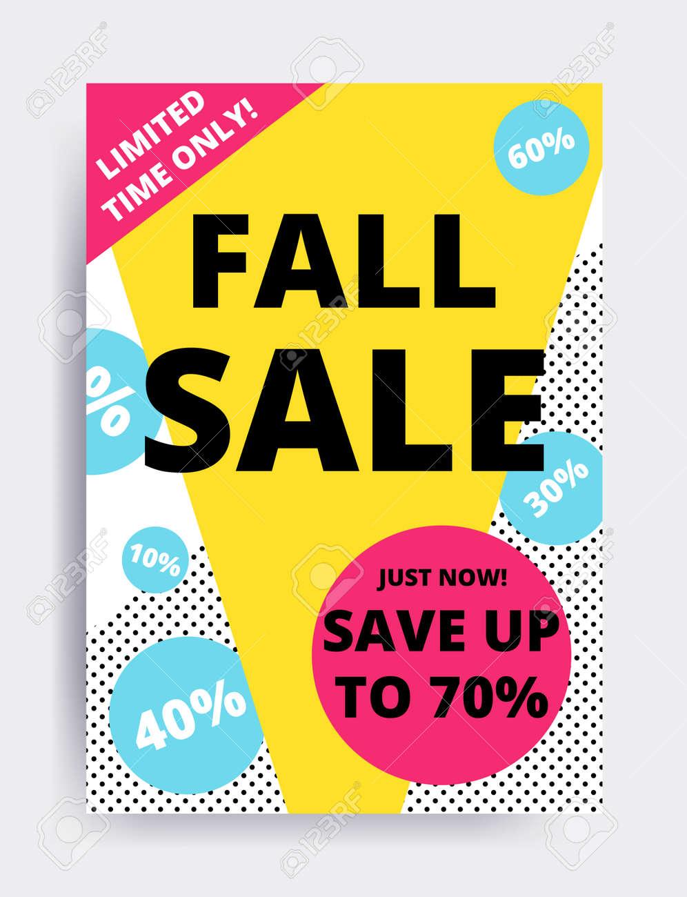 flat design eye catching sale website banner template bright