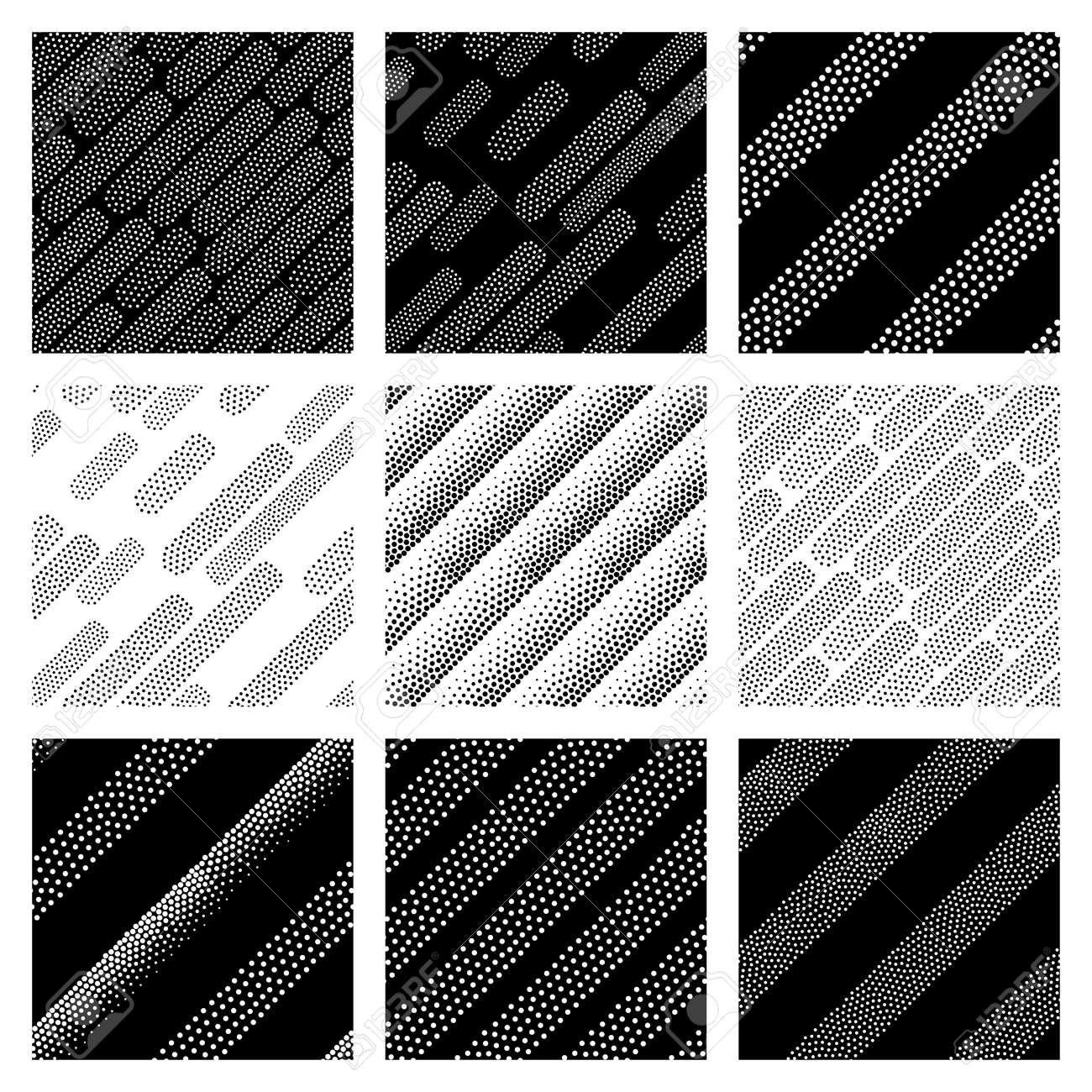 Patrones De Costura Geométrica Del Vector Universales Monocromas ...
