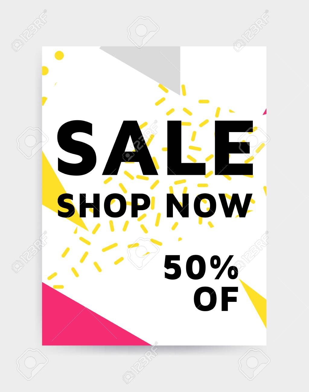 Flat Design Eye Catching Sale Website Banner Template. Bright ...