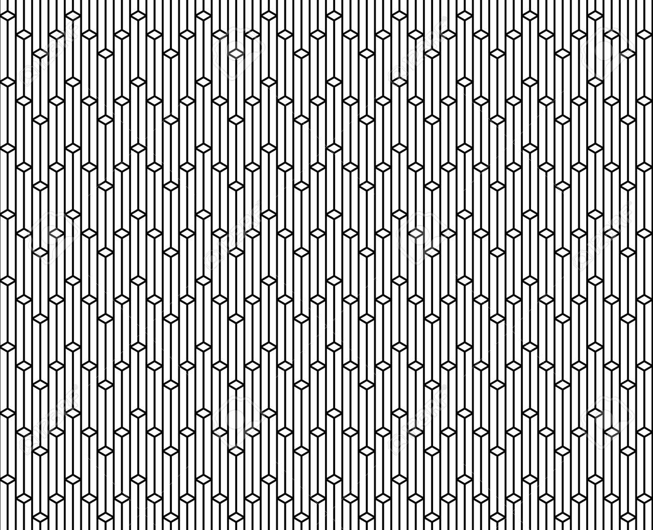 Vector   Vector Seamless Geometric Pattern   Vertical Patterns Repetitive  On Black Illustration