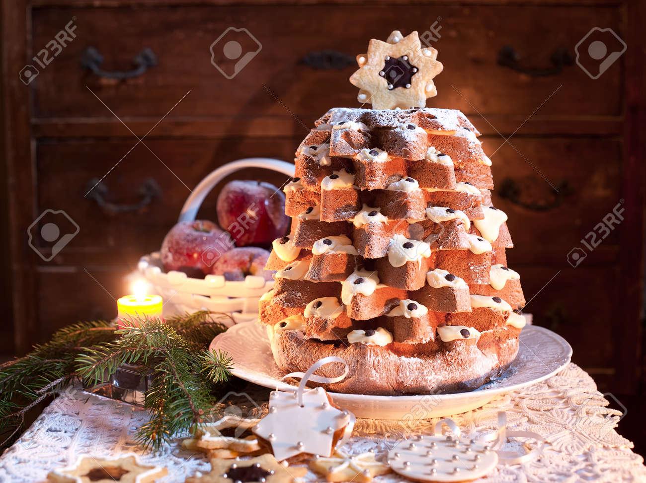 Pandoro (pan D'oro) Is A Traditional Italian Sweet Yeast Bread ...