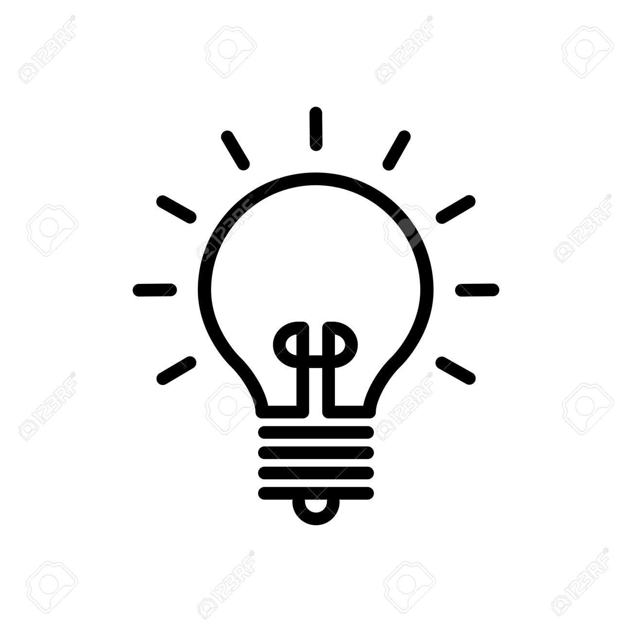 Light Bulb Icon Design Logo Vector Template And Illustration Sign And Symbol - 146602625