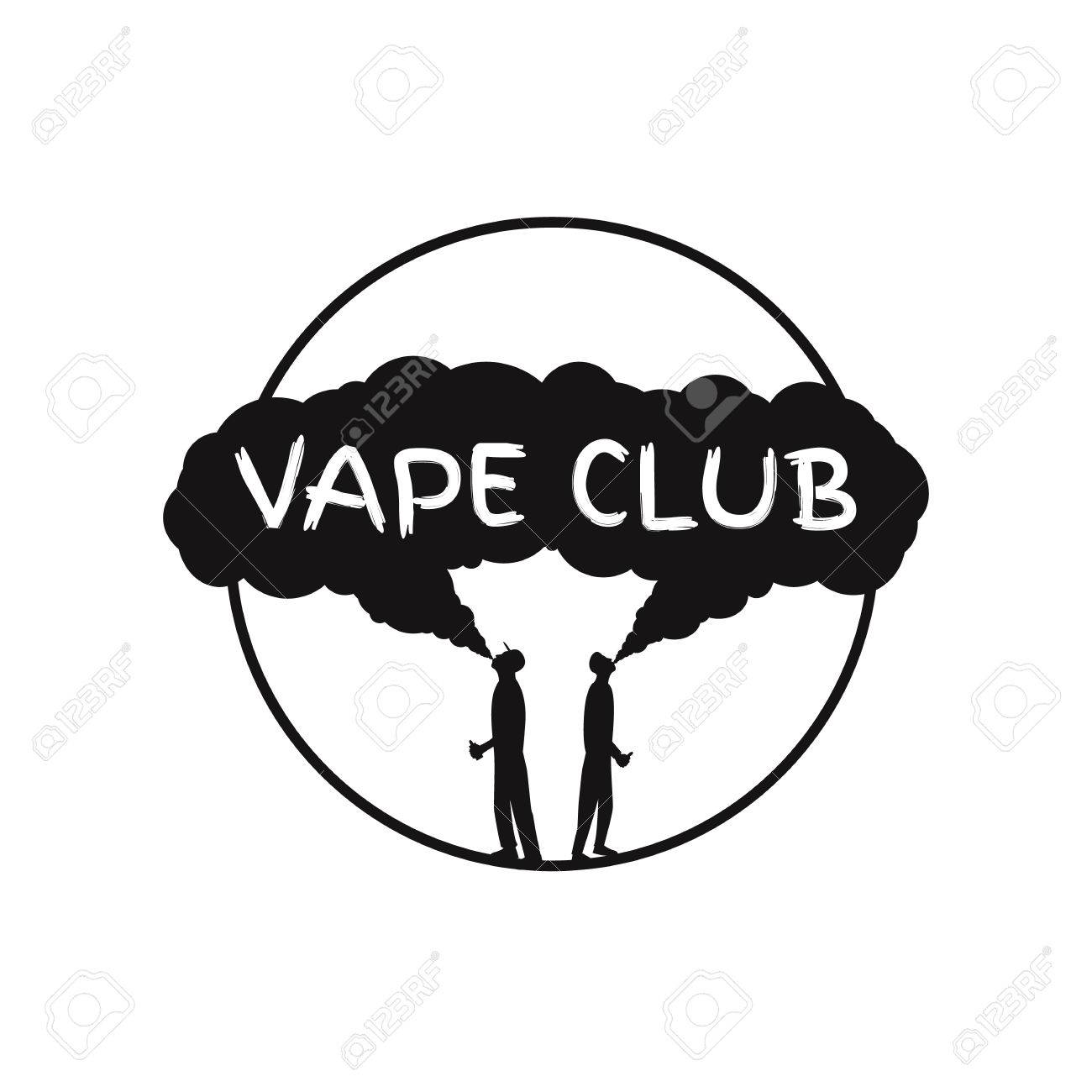Vape club badge, logo or symbol design concept  Can be used for