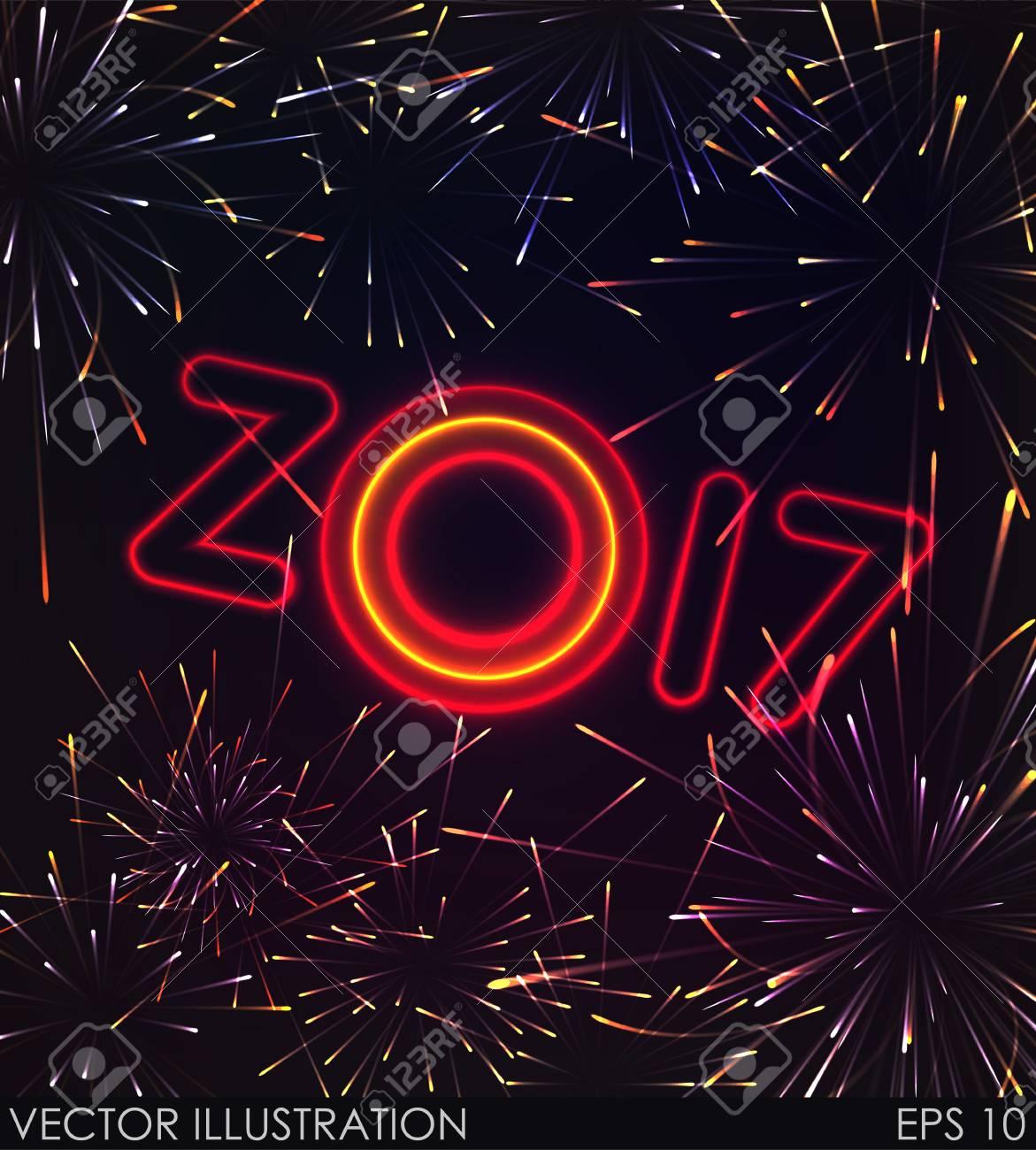 2017 Ano Nuevo Diseno Brillantes Fuegos Artificiales Efectos De