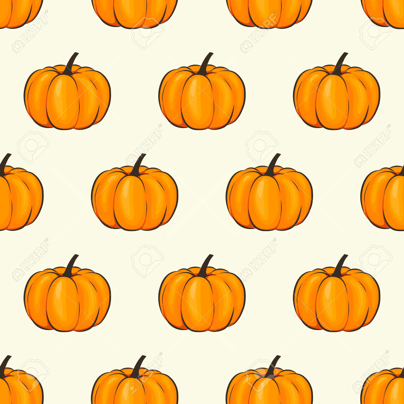 Pumpkin Isolated Seamless Wallpaper Pattern Wrap Cartoon Style Royalty Free Cliparts Vectors And Stock Illustration Image 86815734