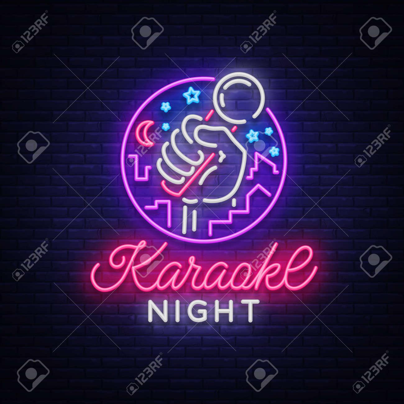 Karaoke night vector. - 96070868