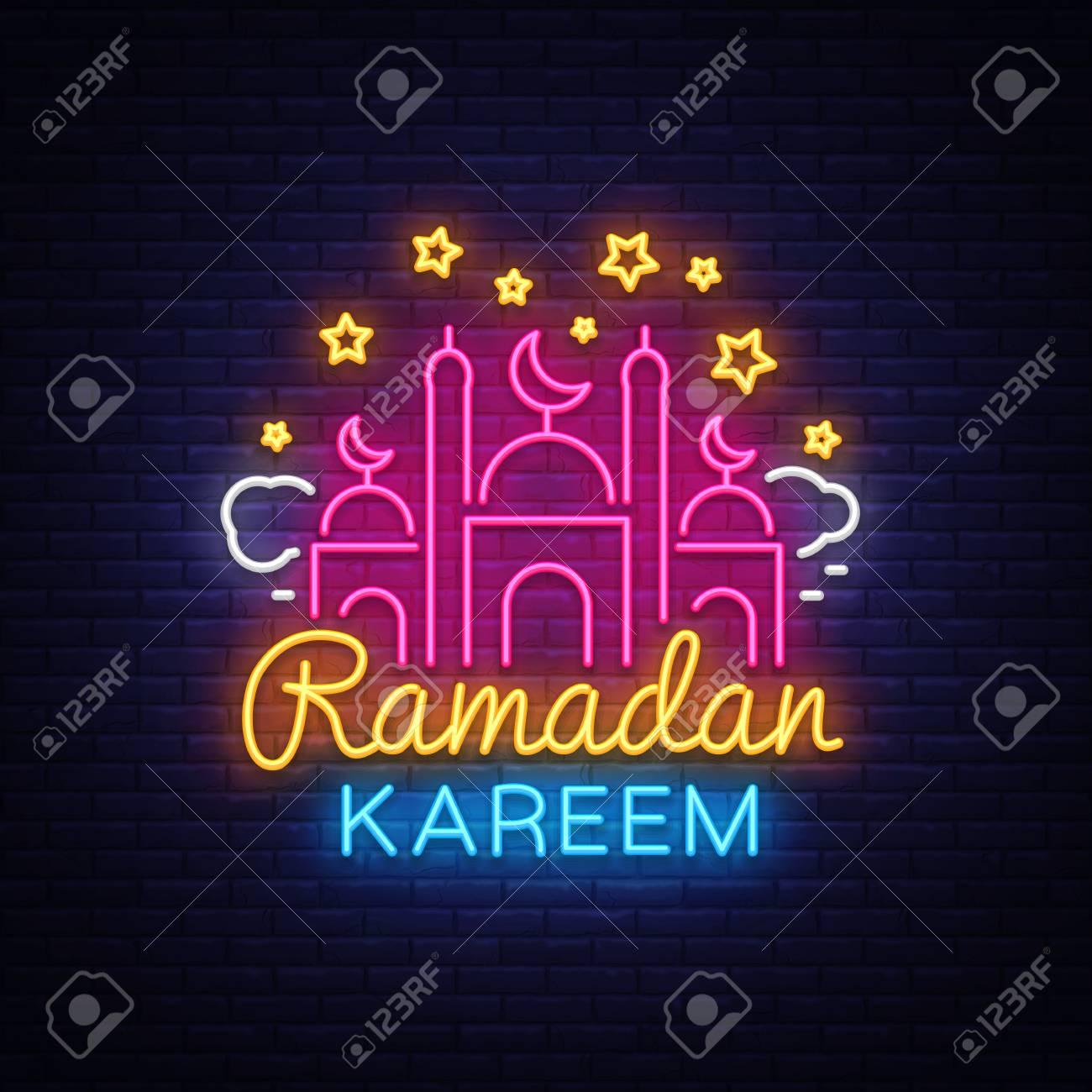 Ramadan kareem greeting cards neon sign design template light ramadan kareem greeting cards neon sign design template light banner night neon m4hsunfo