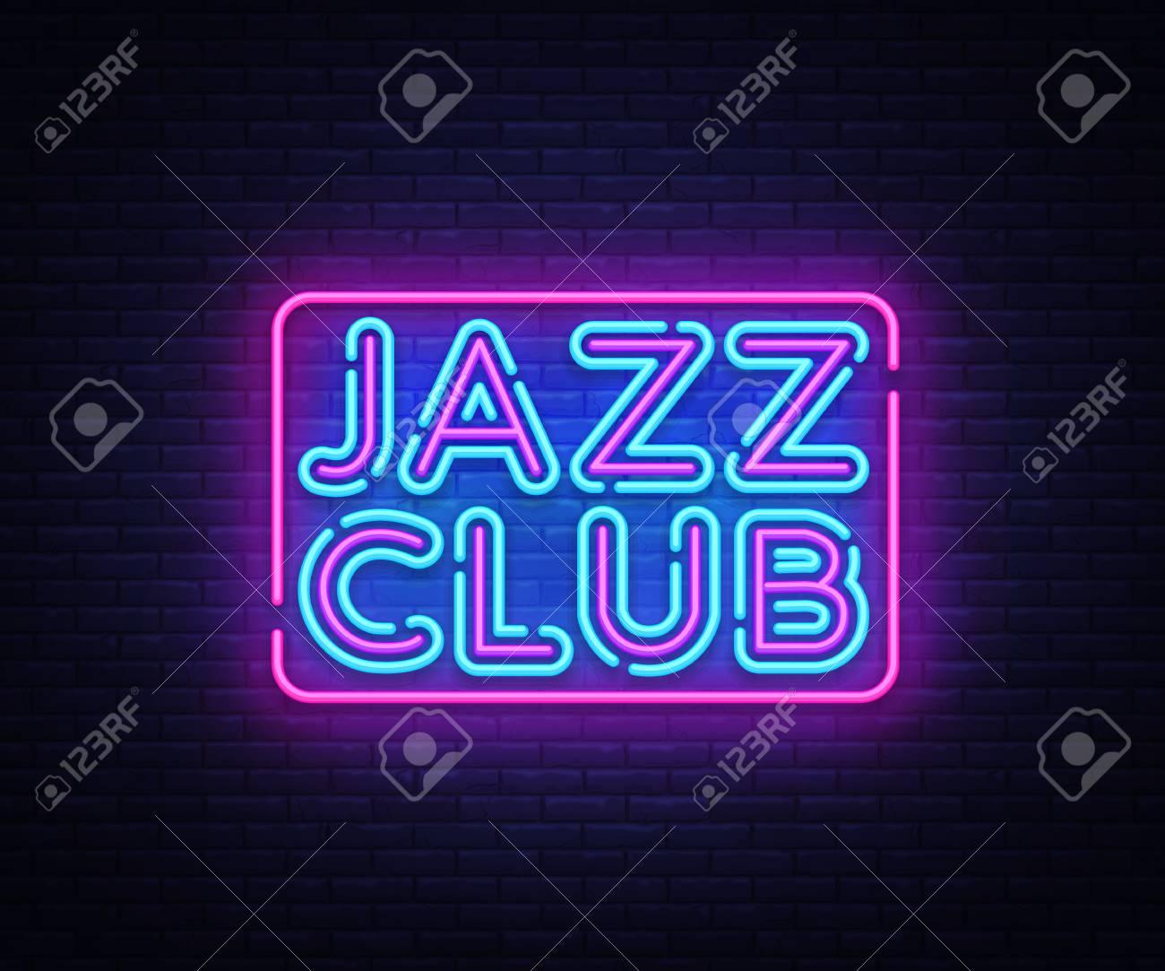 jazz club neon sign vector jazz music design template neon sign