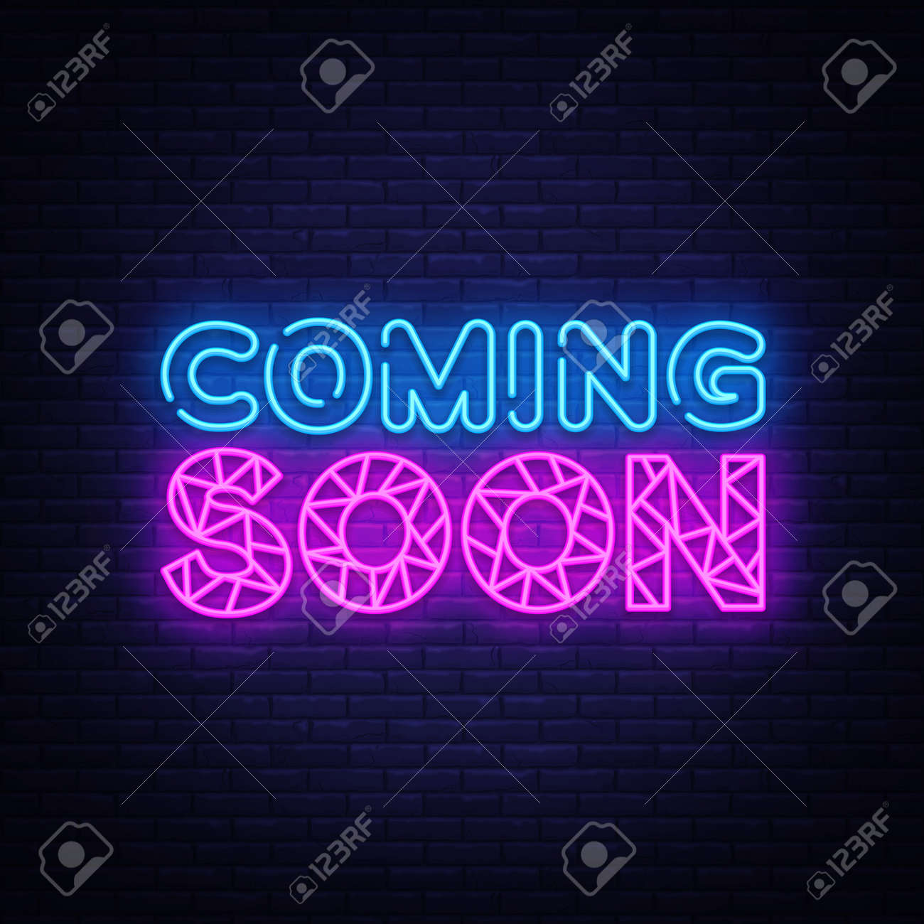 Coming Soon Neon Sign Vector Coming Soon Design Template Neon Royalty Free Cliparts Vectors And Stock Illustration Image 118742478